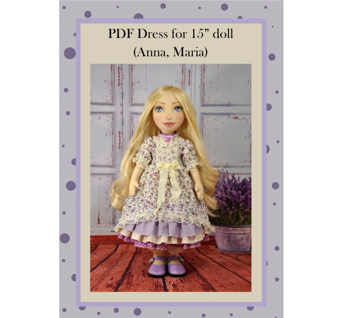 PDF Patter Of The Dress For Dolls 15 Inches #2