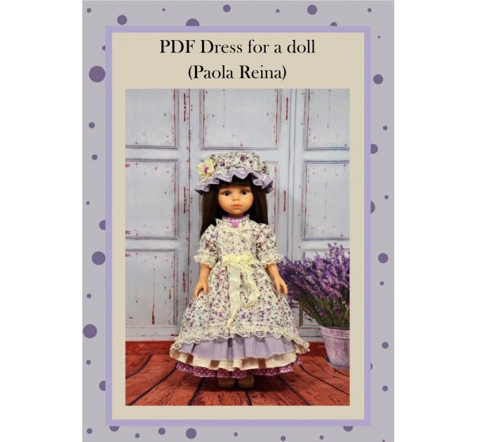 "PDF Pattern & Tutorial "" Dress For Paola Doll"" #1"