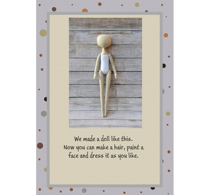 PDF Pattern & Tutorial Doll Body 15 Inches
