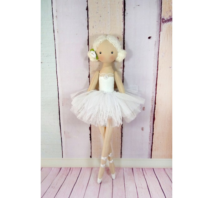 ballerina Doll,Textile doll, decorative doll,collectible dolls , doll cotton, rag doll
