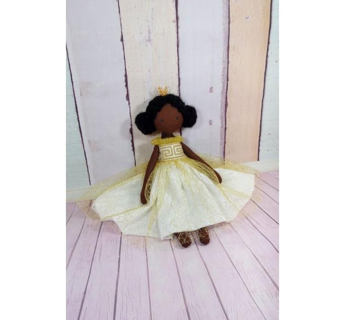 Little princess angel, fairy in a golden dress