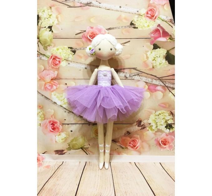 Handmade Ballerina Doll   Handmade Cloth Dolls In Violet Dress