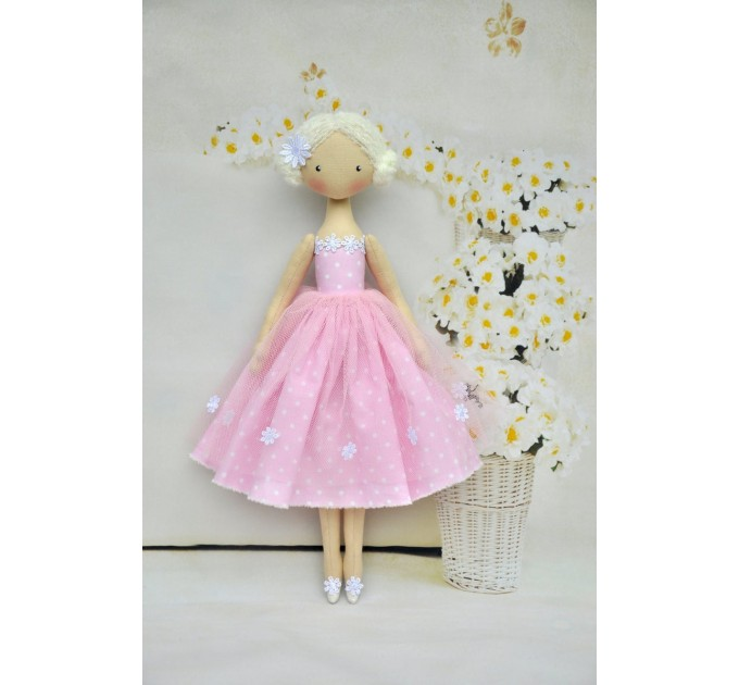 Handmade Princess  Ballerina Doll | Handmade Cloth Dolls In Pink Dress