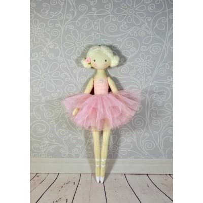 Handmade Ballerina Doll In Pink Dress