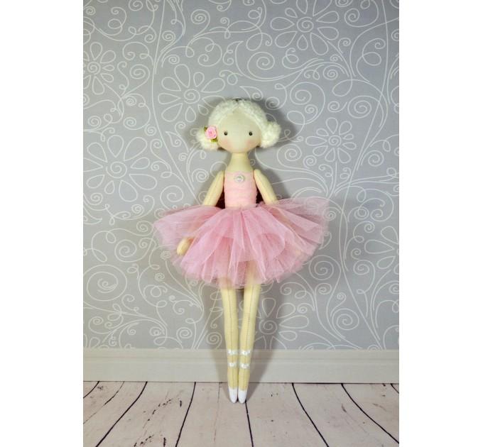 Handmade Ballerina Doll   Handmade Cloth Dolls In Pink Dress